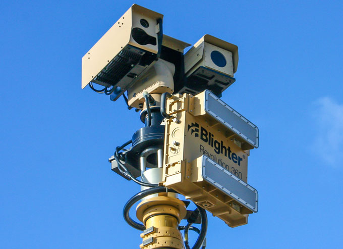 Blighter Revolution 360 is a new product from the Blighter range of ground surveillance radars (GSRs) designed to address the growing requirement for low-cost and lightweight mobile radar surveillance.