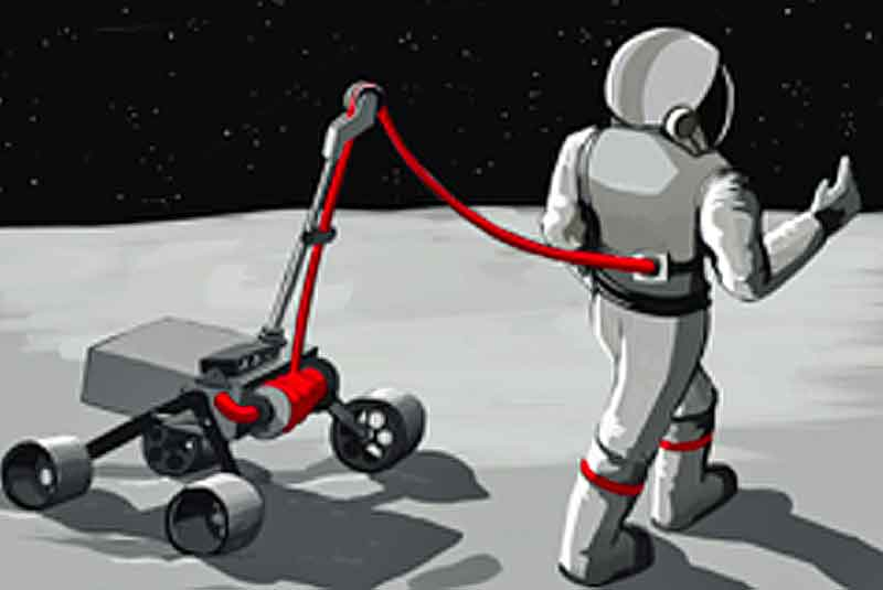 Graphic depiction of Biobot: Innovative Offloading of Astronauts for More Effective Exploration (Image courtesy of D. Akin)