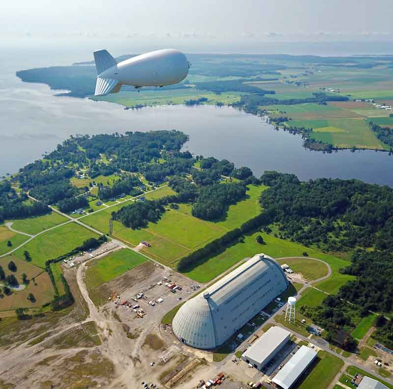 TCOM, L.P. produces the largest Aerostats to date, varying from 12 meters to over 117 meters in length which can be assembled and deployed by minimal crew in mere hours, and operated from either land or vessels at sea. (Courtesy of TCOM, LP)