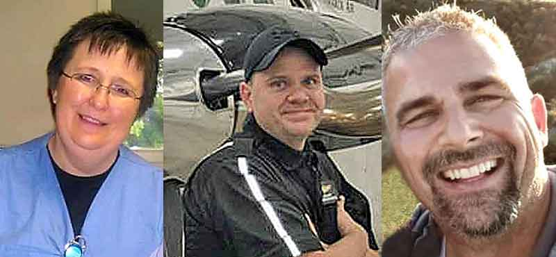 Nurse Bonnie Cook, paramedic Chris Iverson, and pilot Todd Lasky died as a result of the crash. They were en route to Williston for a neonatal patient late Sunday night when their plane crashed in a remote pasture west of Harmon Lake in rural Morton County.