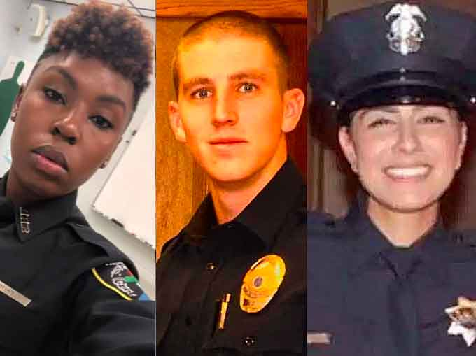 Shreveport Police Officer Chatéri Payne, (left to right), Salt River Police Officer Clayton Townsend, and Davis Police Officer Natalie Corona