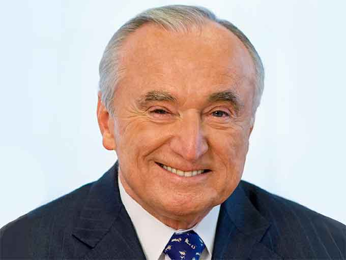 "William ""Bill"" Bratton, former police commissioner of the New York Police Department (NYPD), the Boston Police Department (BPD) and former chief of the Los Angeles Police Department (LAPD), will speak at the 2019 'ASTORS' Homeland Security Awards Luncheon at ISC East 2019, on Wednesday, November 20th, at the Jacob Javits Convention Center (Courtesy of Teneo Risk)"
