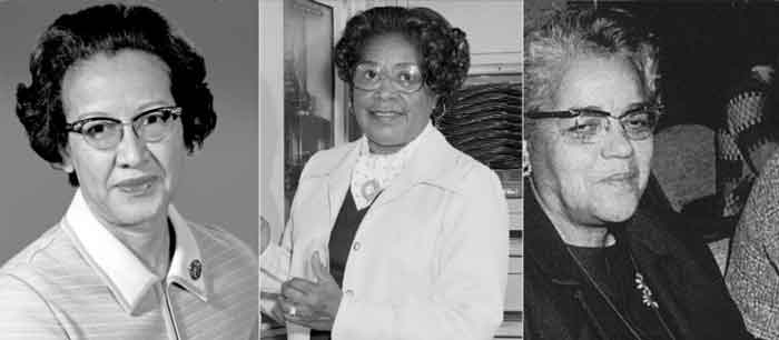 Katherine Johnson, Dorothy Vaughan, and Mary Jackson (Courtesy of NASA)