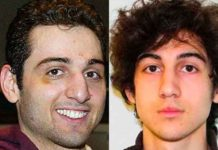 Chechen Kyrgyzstani-American brothers Tamerlan Tsarnaev, 26, (at left), and Dzhokhar Tsarnaev, 19, (at right) were responsible for planting pressure cooker bombs at the Boston Marathon on April 15, 2013, which killed three people and injured approximately 280 others. (Courtesy of YouTube)