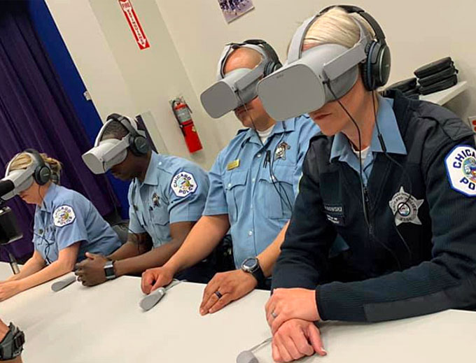 The Chicago Police Department is the first agency to incorporate Axon's program into its current crisis intervention training curriculum. (Courtesy of Chicago PD)