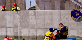 The state-of-the-art SWFT facility is the first in New York dedicated to training fire, law enforcement and emergency services responders in techniques employed to conduct water rescues. (Courtesy of NYS DHSES)