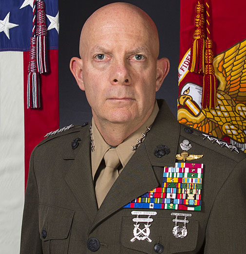 General David H. Berger, a United States Marine Corps general currently serving as the 38th Commandant of the United States Marine Corps.