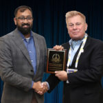 Bhargav Patel, Senior Technologist at U.S. DHS S&T' National Urban Security Technology Laboratory (NUSTL), accepting the Labs's 2019 'ASTORS' Award at the 'ASTORS' Awards Luncheon held during ISC East.