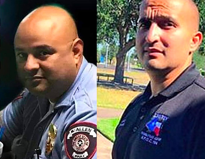 McAllen officers Edelmiro Garza, 45, and Ismael Chavez, 39, were shot and killed in response to a domestic call, that happened so quickly