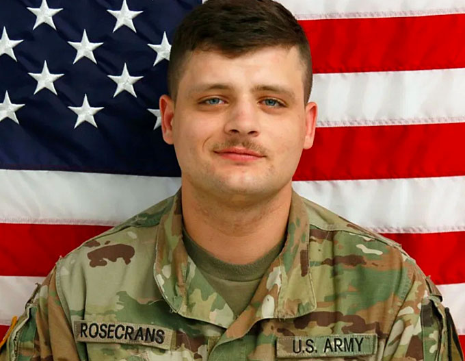Pfc. Brandon Scott Rosecrans, 27, was killed in May by a 28-year-old man from Killeen, Texas, according to police.