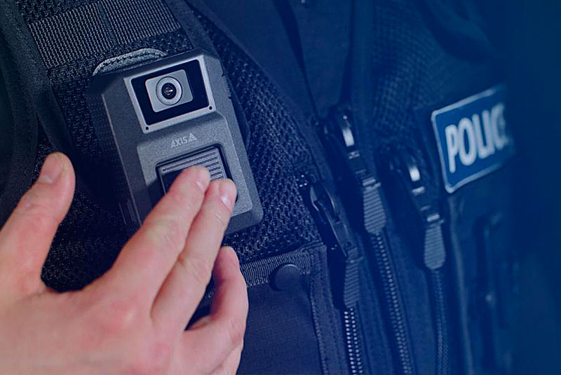 AXIS W100 Body Worn Camera gives you sharp images every time and clear audio thanks to dual microphones with noise suppression. It's lightweight, robust, water-resistant, and easy to use.