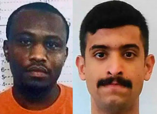 Cholo Abdi Abdullah (at left), a 30 yo Kenyan national, plotted to hijack an aircraft and conduct a 9/11-style attack in the United States. On the morning of December 6, 2019 Mohammed Saeed Alshamrani (at right), killed three men and injured eight others in aterrorist attackatNaval Air Station PensacolainPensacola, Florida.