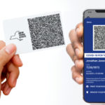 A printed pass and a digital pass (Gov. Andrew Cuomo:New York State)